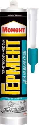 Герметик для аквариумов Момент Гермент, силиконовый, прозрачный, 280 мл