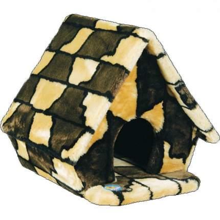 Домик для собак Зооник Избушка, цвет в ассортименте, 48x48x45см