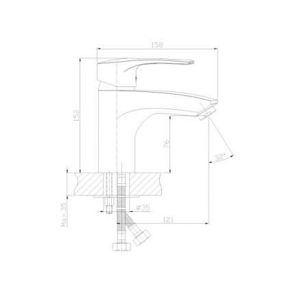 Смеситель с гигиеническим душем Rossinka Silvermix T40-15 хром
