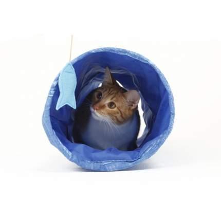Тоннель для кошек Великий кот 22х65 см, с мятой и шуршащим элементом
