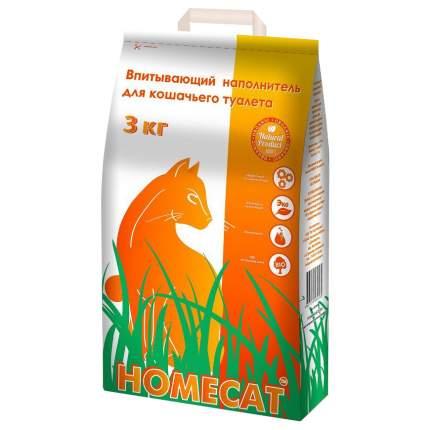 Впитывающий наполнитель для кошек HOMECAT цеолитовый, 3 кг, 5 л