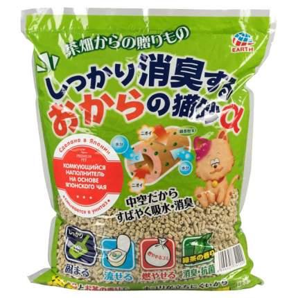 Комкующийся наполнитель для кошек Japan Premium Pet древесный, зеленый чай, 3.5 кг, 7 л