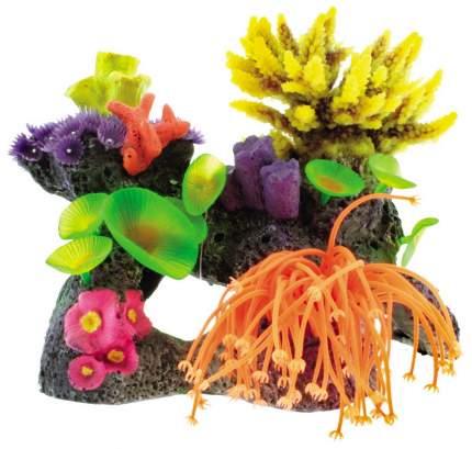 Искусственный коралл DEZZIE, пластик, разноцветный, 21х14х13 см