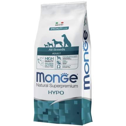 Сухой корм для собак Monge Speciality Adult Hypo, гипоаллергенный, лосось, тунец, 12кг
