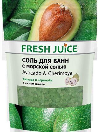Coль для ванн  FRESH JUICE avocado&cherimoya дой-пак 500 мл