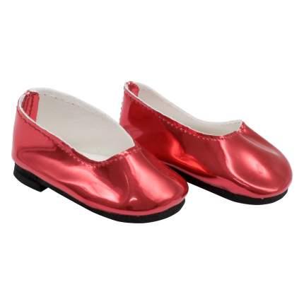 """MISU-6 Туфли для куклы """"Металлик"""", 7см, цв. алый"""