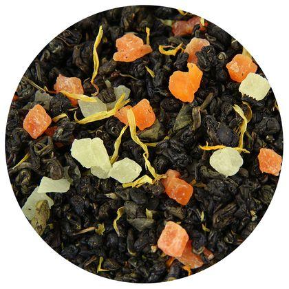 Зеленый чай Манго со сливками, 100 г