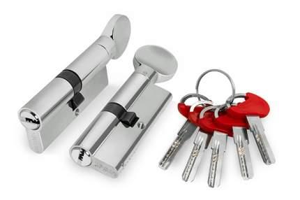 Цилиндровый механизм D-PRO502/80 mm /40+10+30/ CP, цвет:  хром, 5 ключей