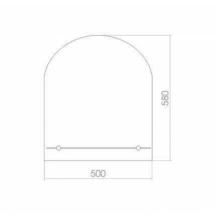 Зеркало MIXLINE Арка 500х580 с полкой
