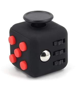 Игрушка-антистресс FIDGET CUBE Черно-красный