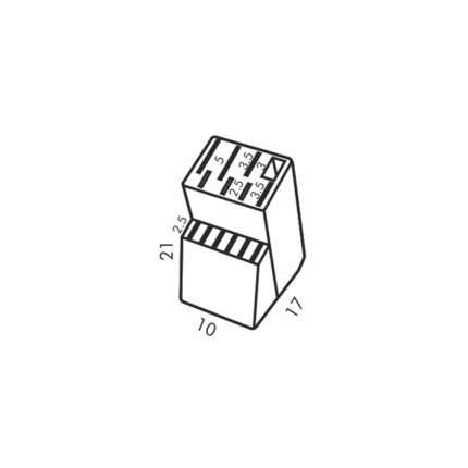 Блок деревянный для 8+6 ножей