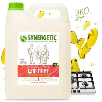 Средство для плит от жира и нагара SYNERGETIC универсальное, 5л