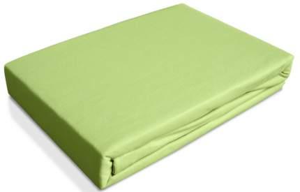 Простынь трикотаж на резинке Ol-tex 90х200 светло-зеленая