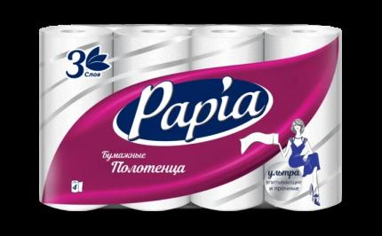 Бумажные полотенца Papia 4 штуки
