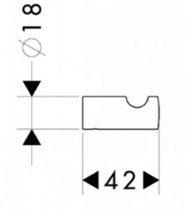 Hansgrohe Logis Крючок одинарный 40511000