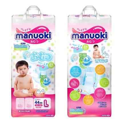 Подгузники Manuoki L (12+кг), 44 шт.