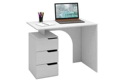 Компьютерный стол MFMaster Нейт-1 МСТ-СТН-01-БТ-16, белый