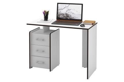 Компьютерный стол MFMaster Слим-1 МСТ-ССЛ-01-БТ-16, белый