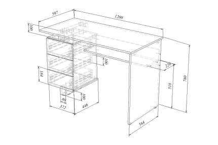 Компьютерный стол MFMaster Ренцо-2 МСТ-СРЕ-02-ВМ-16, венге