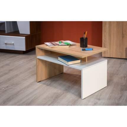 Журнальный столик Mobi Лайт 03.235 1356263 70х40х41,7 см, дуб сонома/белый