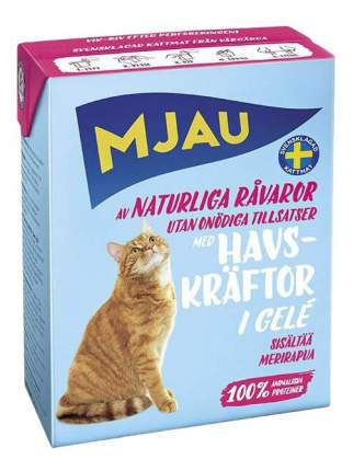 Влажный корм для кошек Mjau, морепродукты, лангуст 16шт, 380г