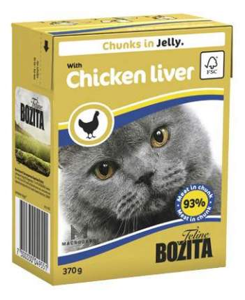 Влажный корм для кошек BOZITA, курица, 16шт, 370г