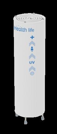 Бактерицидный рециркулятор напольный вертикальный Health-life V-400 400м3