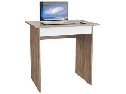 Компьютерный стол MFMaster Милан-2Я МСТ-СДМ-2Я-СБ-16, дуб сонома/белый