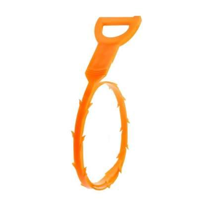 Ручной инструмент для чистки слива раковины от мусора Blonder Home BH-DCT-01, оранжевый