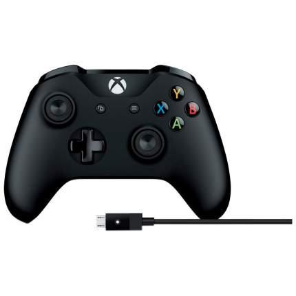 Геймпад Microsoft Xbox One + Cable for Windows 4N6-00002 Черный