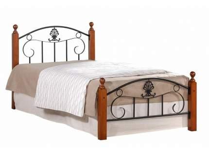 Односпальная кровать Односпальная кровать Румба Красный дуб/Чёрный, 900х2000 мм