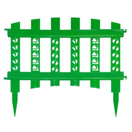 """Забор декор""""Палисадник""""зеленый"""