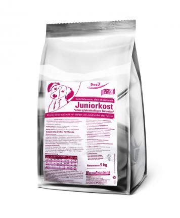 Сухой корм для щенков BonaVentura Dog 7 Junior SELECT, безглютеновый, утка, индейка, 5кг