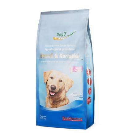 Сухой корм для собак BonaVentura Dog 7 hipo allergenic, страус и картофель, 12,5кг