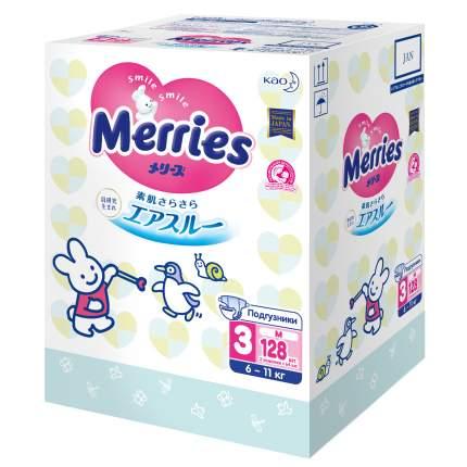 Подгузники Merries M 6-11 кг 128 штук