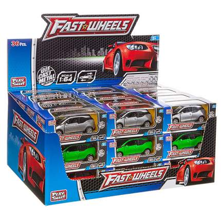 Металлическая инерционная машинка Play Smart Fast Wheels 6588W, в ассортименте