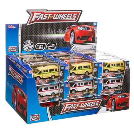 Набор металлических инерционных машин Play Smart Fast Wheels 6592W, 36 шт.