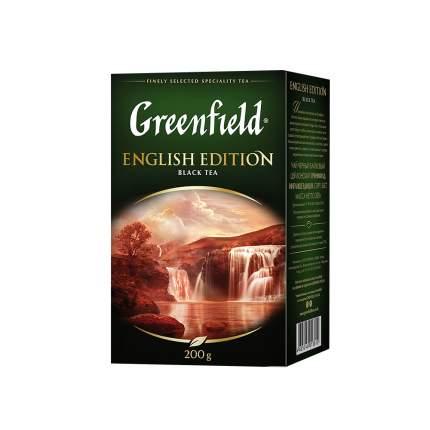 Чай черный листовой Greenfield English Edition 200 г