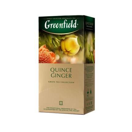 Чай зеленый Greenfield Quince Ginger 25 пакетиков