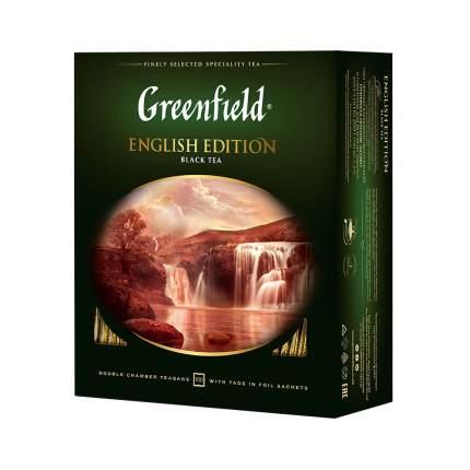 Чай черный Greenfield English Edition 100 пакетиков