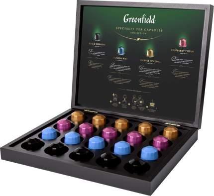 Подарочный набор Greenfield в капсулах в деревянной шкатулке ассорти 20 капсул