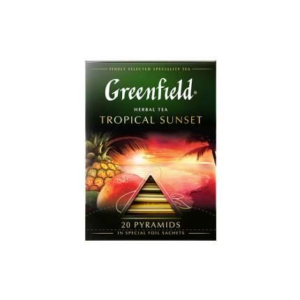 Чай травяной  в пирамидках Greenfield Tropical Sunset 20 пакетиков