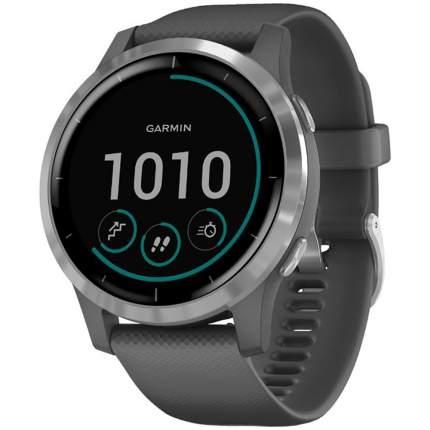 Часы Garmin vivoactive 4, GPS, Wi-Fi, Shadow Gray/Silver, E.EU (010-02174-03)