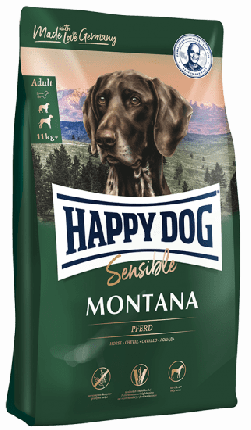 Сухой корм для собак Happy Dog Supreme Sensible Montana, конина, 0,3кг