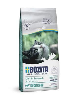 Сухой корм для кошек BOZITA Diet & Stomach Grain Free, беззерновой, с лосем, 2кг