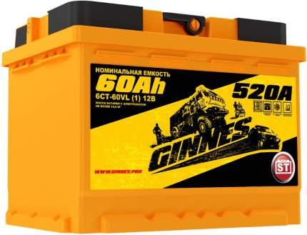 Аккумулятор автомобильный GINNES 6СТ-60.1 GY6011