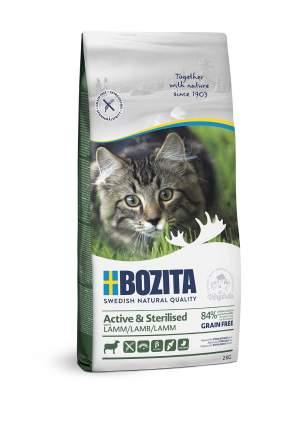 Сухой корм для кошек BOZITA Active & Sterilised Grain Free, беззерновой, с ягненком, 2кг