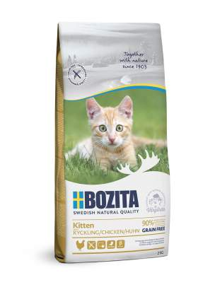 Сухой корм для котят BOZITA Kitten Grain Free, беззерновой, с курицей, 10кг