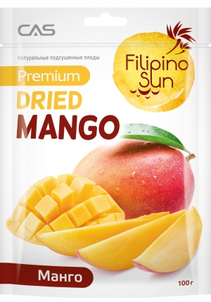 Плоды манго сушеные Filipino Sun 100 г