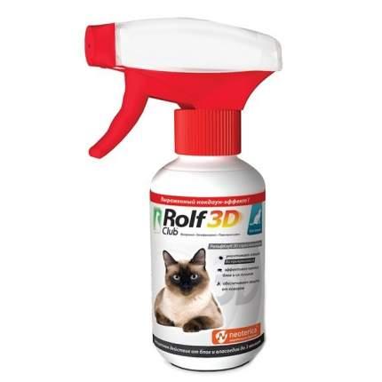 Спрей для кошек против блох, власоедов, клещей, комаров RolfClub 3D, 200 мл